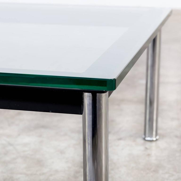 1980s Le Corbusier Lc10p No 3965 Coffee Table Glass For Cassina For Sale At 1stdibs