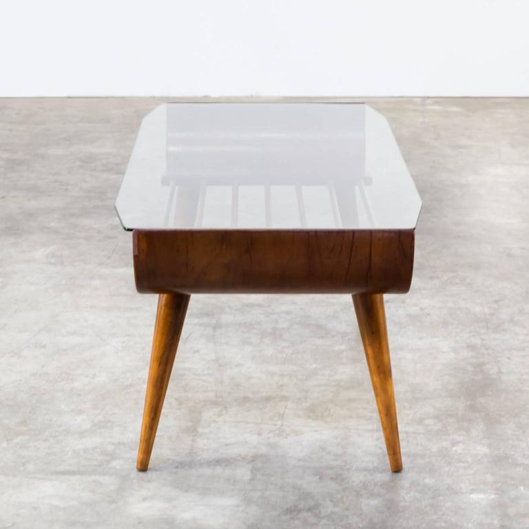 Cor Alons Coffee Table Plywood Glass For Gouda De Boer For Sale At 1stdibs