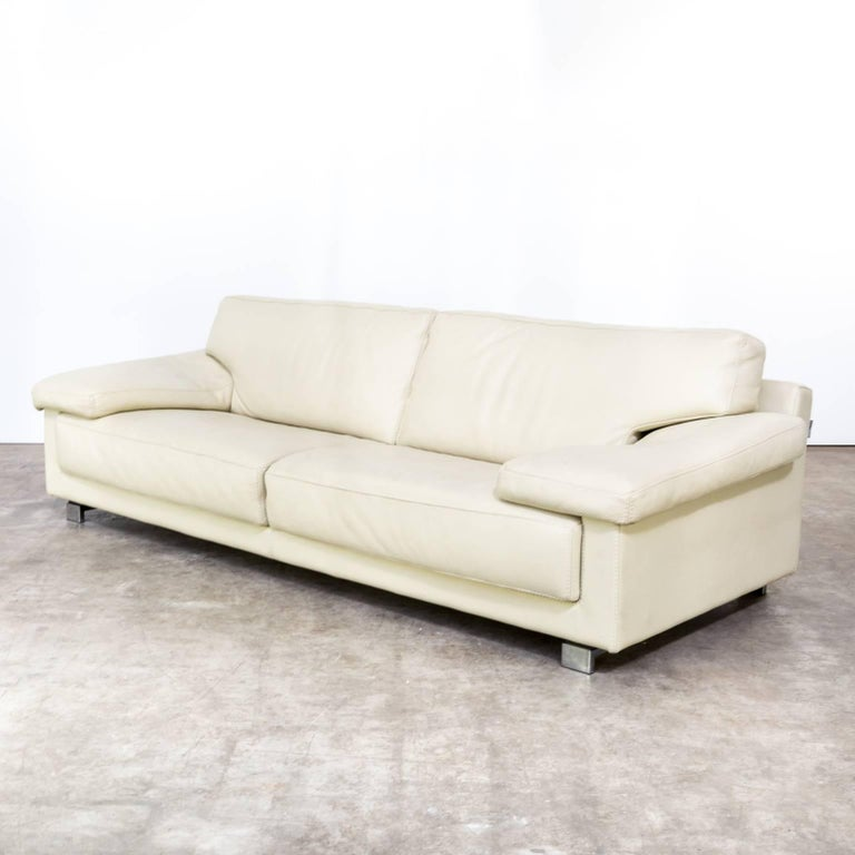Roche bobois leather sofa for sale at 1stdibs for Chaise longue roche bobois