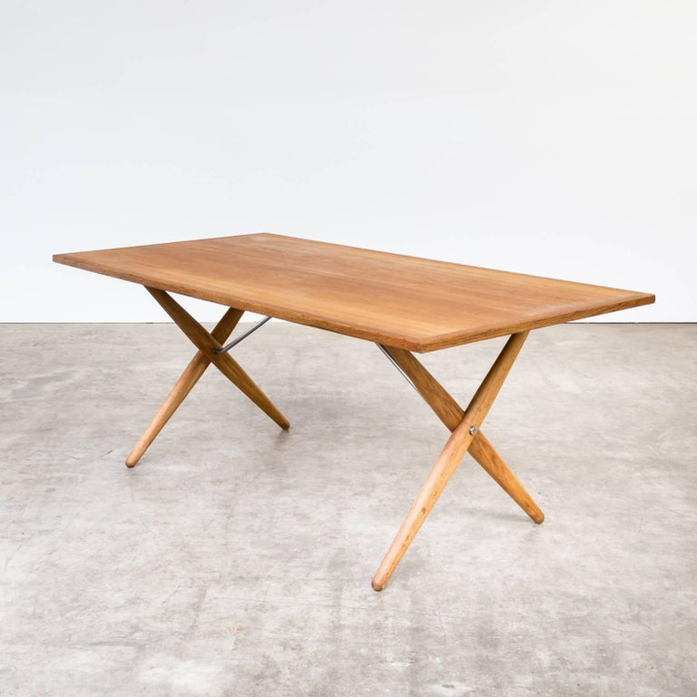 1960s hans j wegner at 303 dining table for andreas for Design couchtisch ring