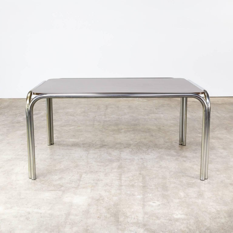 1970s tube frame design dining table for sale at 1stdibs for Dining table frame design