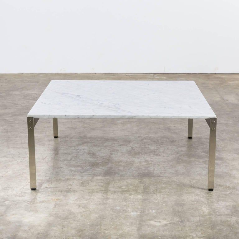 50s Kho Liang Ie coffee table '020 series' marble for Artifort. Very rare edition. Source: Book 'Kho Liang Ie uitgeverij 010' this table is mentioned in advertisements f.e. in Dutch magazine 'Goed Wonen.'.
