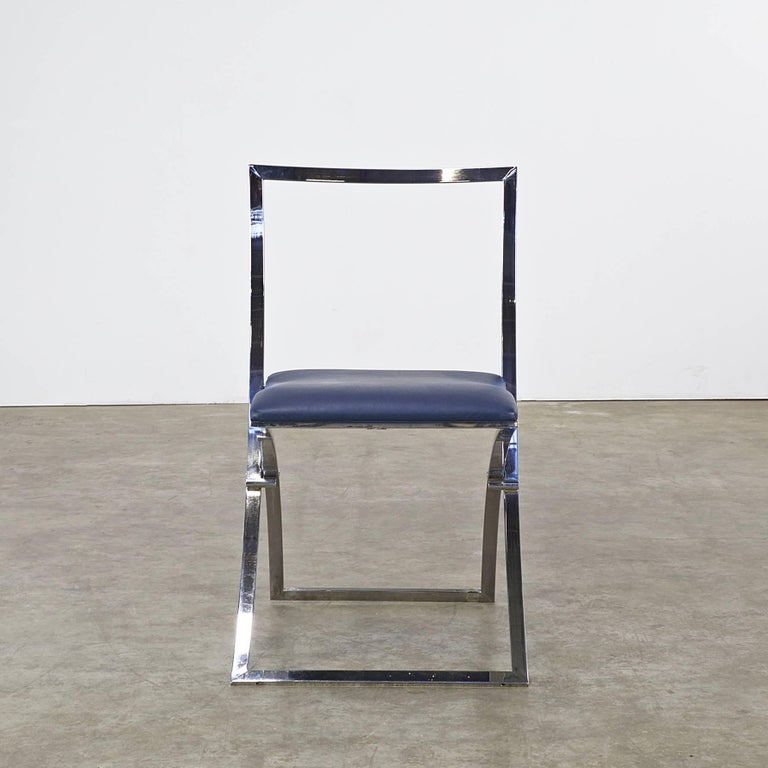 Marcello Cuneo Folding Chair 'Model Luisa' for Mobel Italia, Set of Three In Good Condition For Sale In Amstelveen, Noord