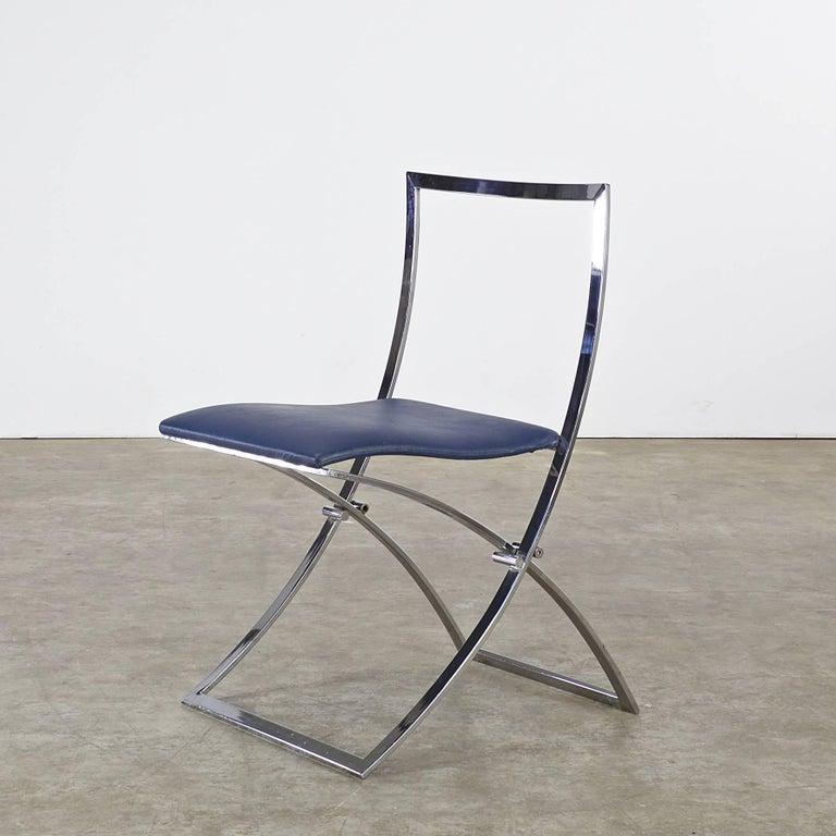 Italian Marcello Cuneo Folding Chair 'Model Luisa' for Mobel Italia, Set of Three For Sale