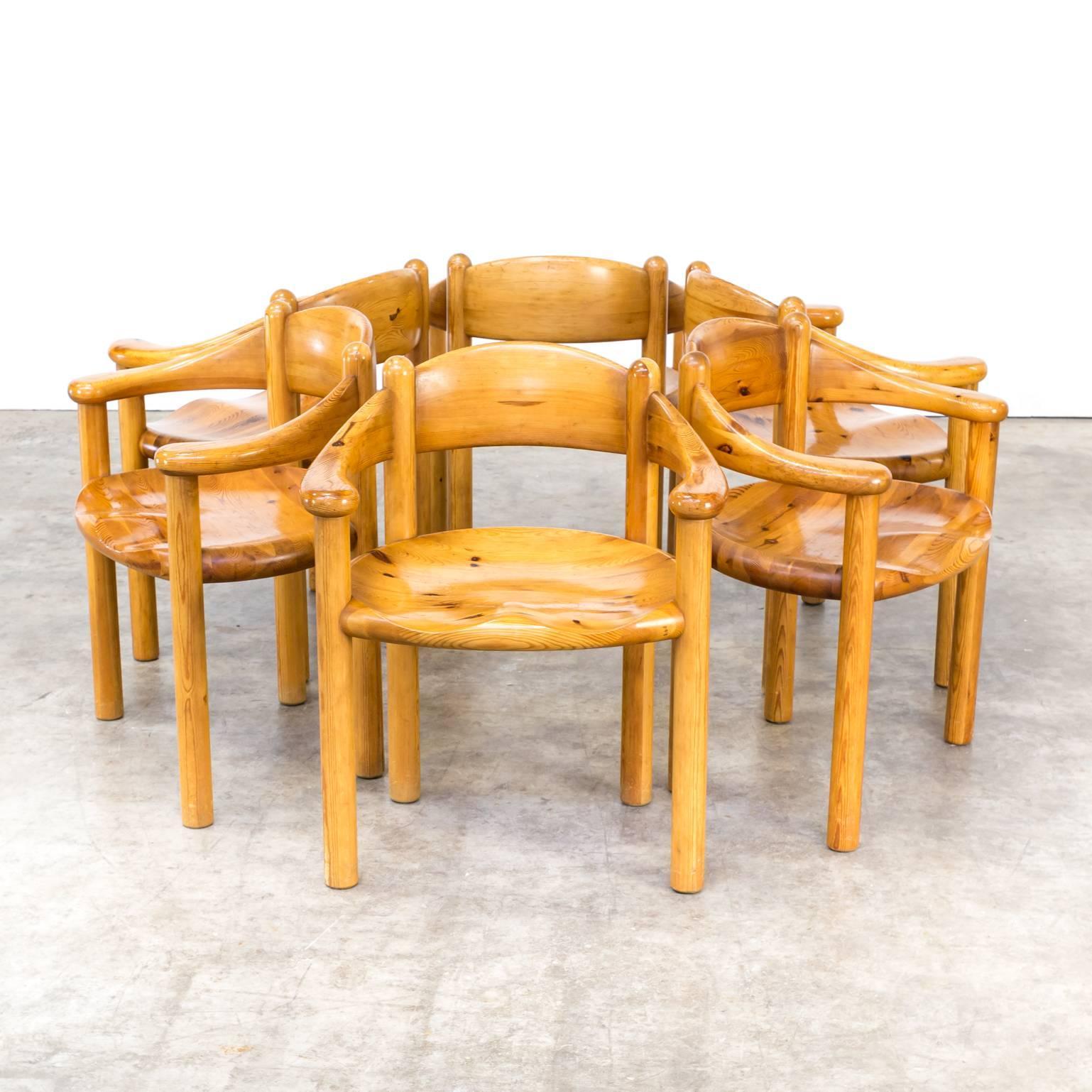 1960s Rainer Daumiller Pine Dining Chairs Set Of Six. Beautiful Set Of Six Pine  Wood