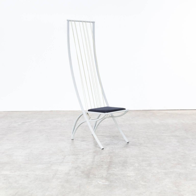 Metal Rare model high back chairs set/6 For Sale
