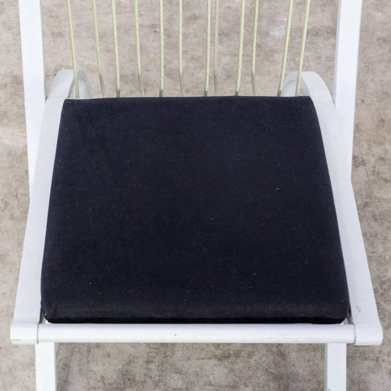 Rare model high back chairs set/6 For Sale 4