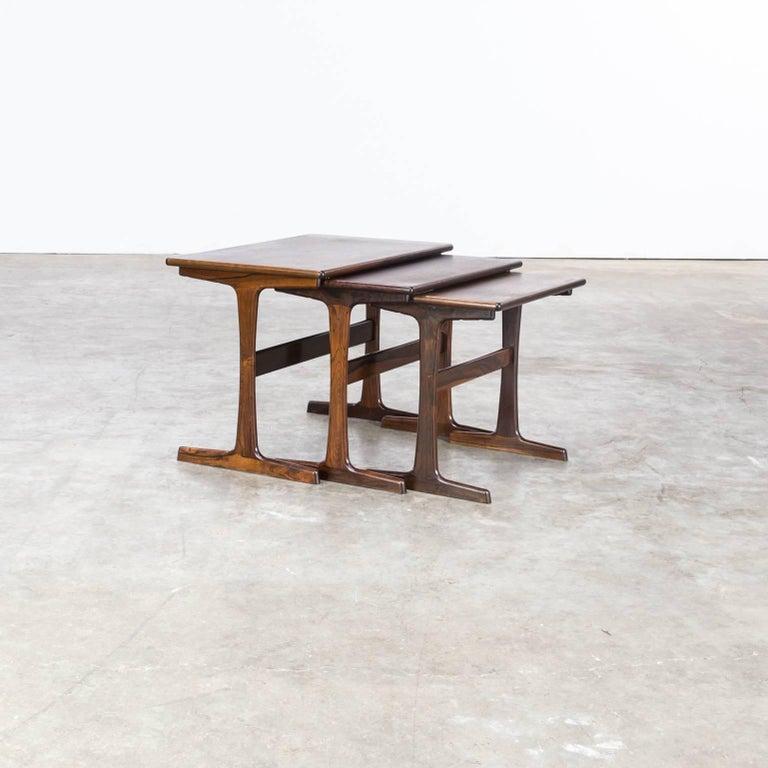 Rosewood 1960s Kai Kristiansen Nesting Tables for Vildbjerg Møbelfabrik