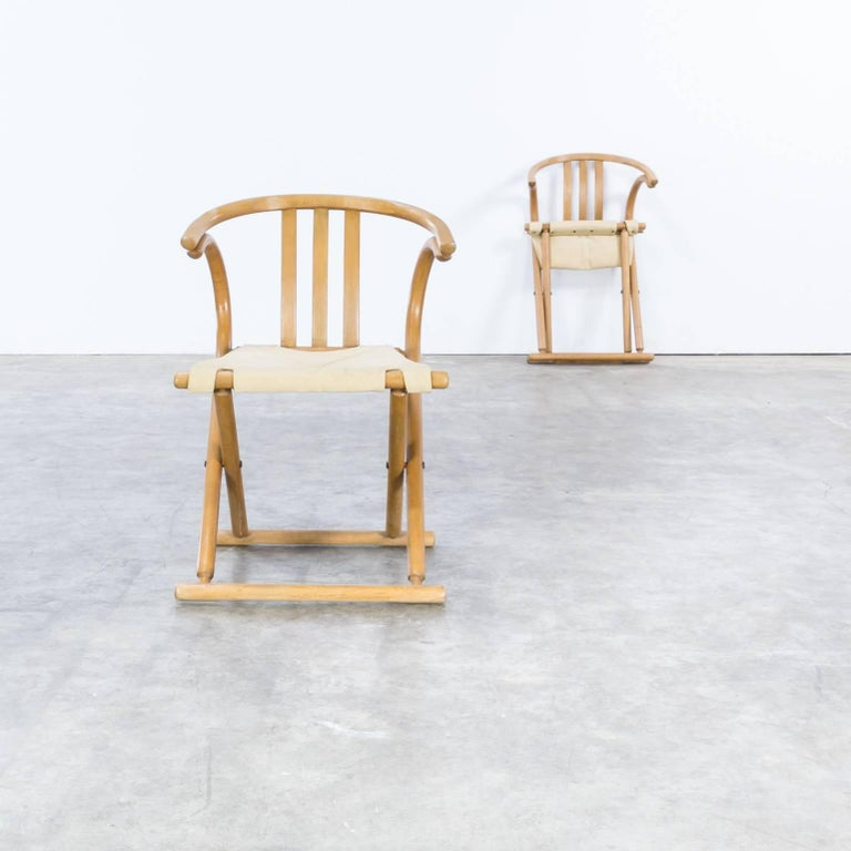 German Thonet Bentwood Folding Chair Set or 2 For Sale