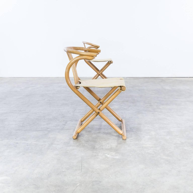 20th Century Thonet Bentwood Folding Chair Set or 2 For Sale