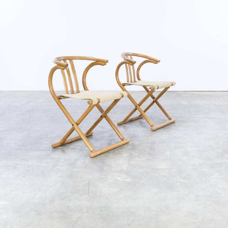 Thonet Bentwood Folding Chair Set or 2 In Good Condition For Sale In Amstelveen, Noord