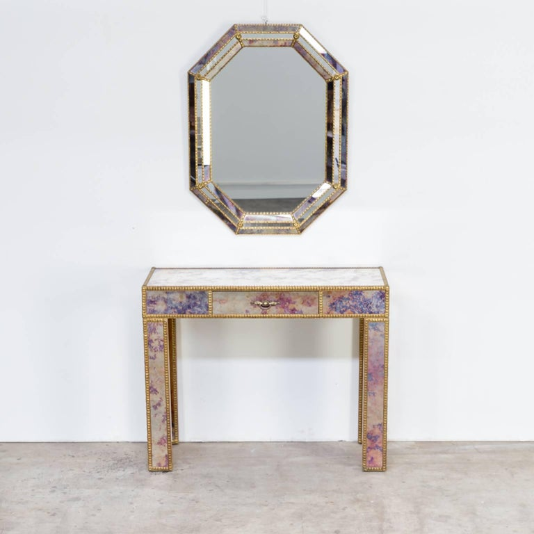 1960s Dressing Table with Mirror in Regency Style For Sale 5