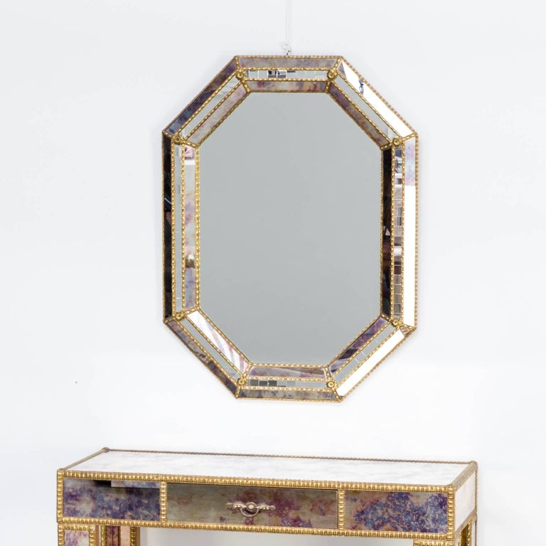 1960s Dressing Table with Mirror in Regency Style For Sale 2