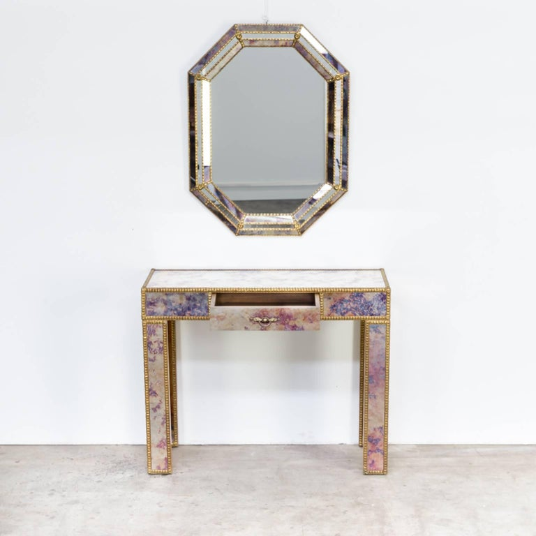 1960s Dressing Table with Mirror in Regency Style For Sale 6