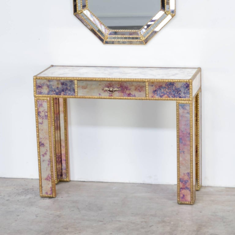 1960s Dressing Table with Mirror in Regency Style For Sale 3