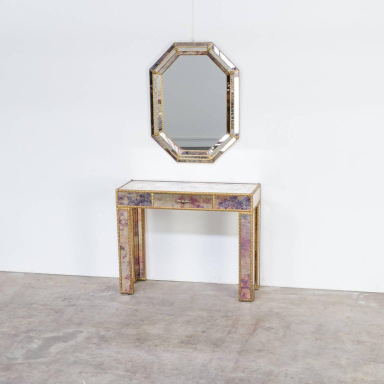 1960s Dressing Table with Mirror in Regency Style For Sale 4