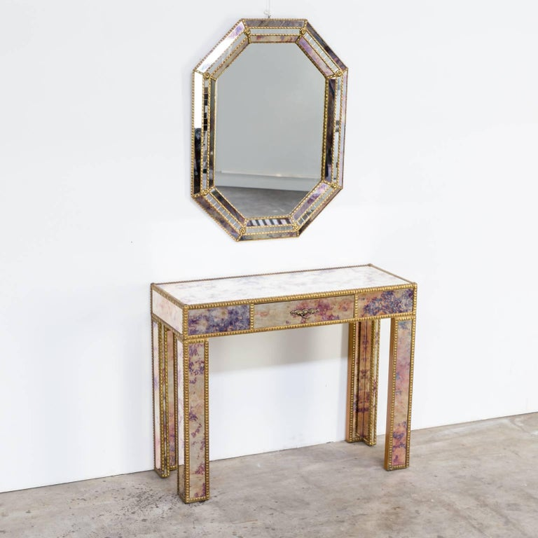 1960s Dressing Table with Mirror in Regency Style For Sale 7