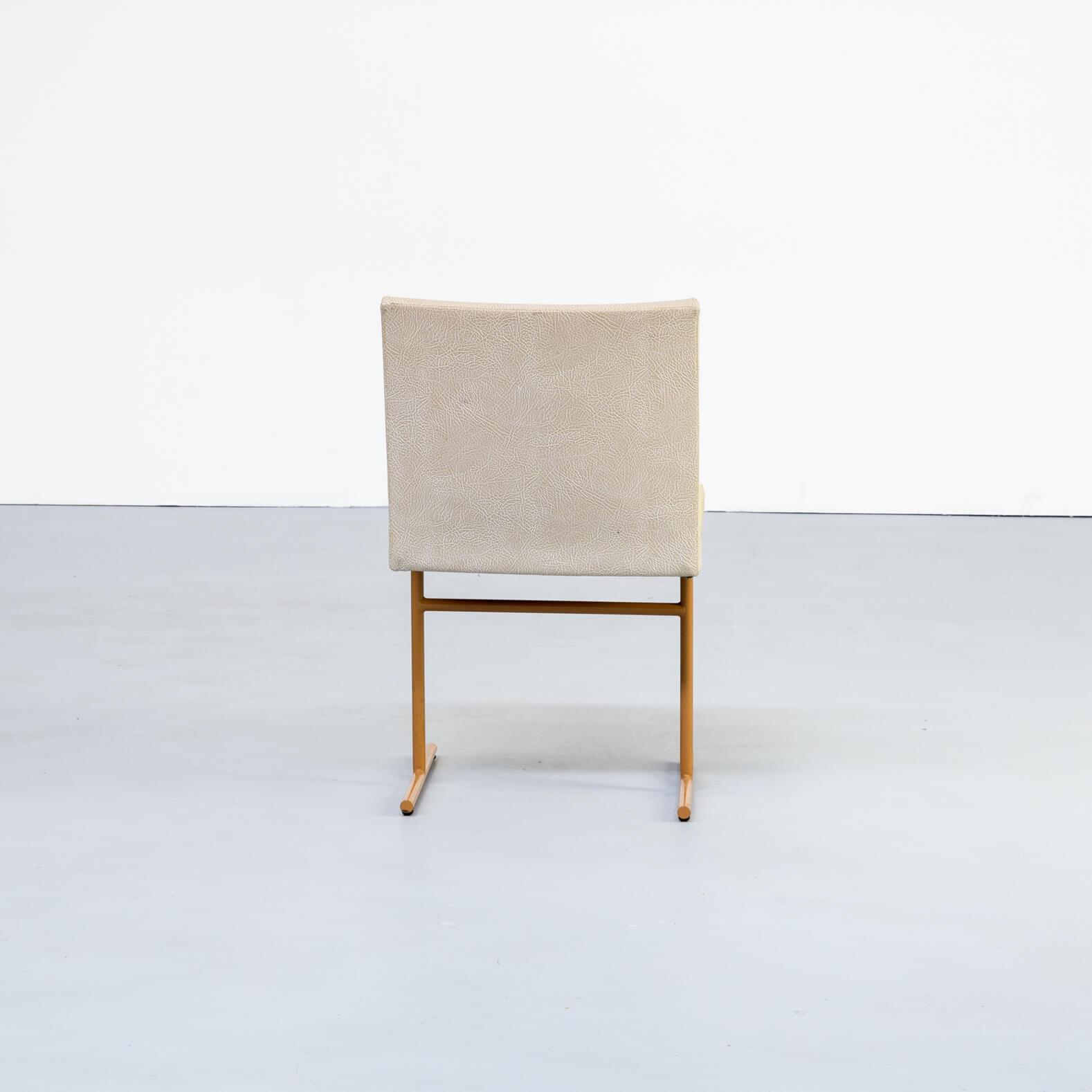 Eettafel Stoelen Modern.1970s Skai And Metal Postmodern Dining Chairs Set Of 6 For Sale