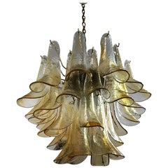 Two Signed Mid-Century Modern Chandeliers by La Murrina in Murano Glass