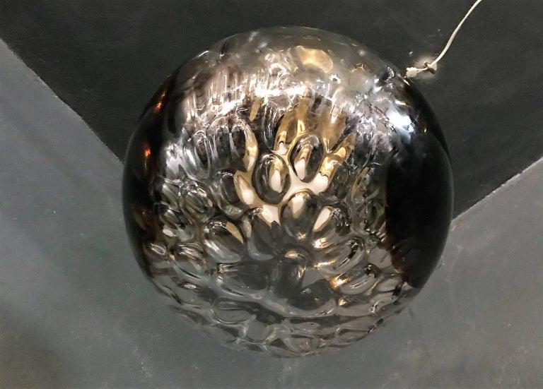 Blown Glass Mid-Century Modern Murano Glass Chandelier by Venini Art Glass VeArt, circa 1970 For Sale