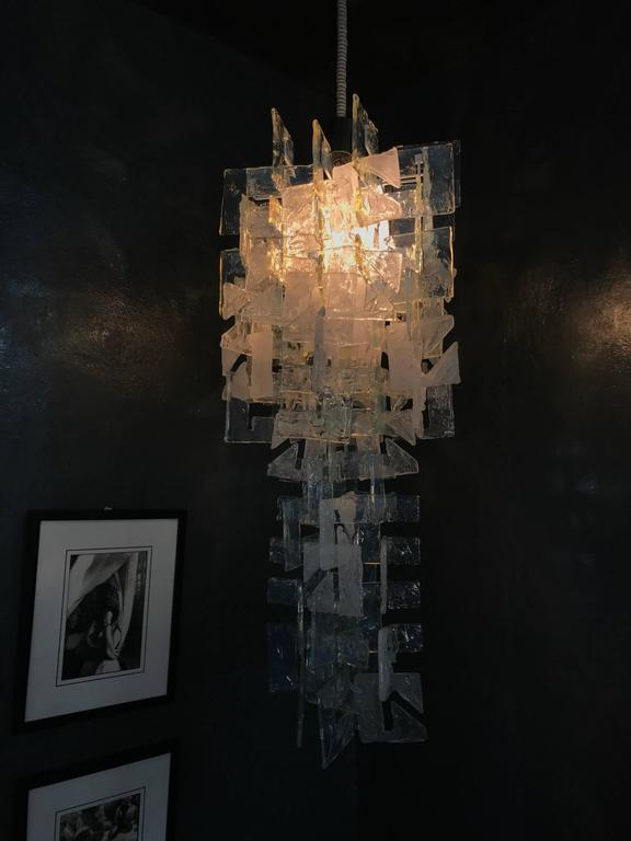 Mid-Century Modern Chandelier by Carlo Nason for Mazzega, Murano Glass In Good Condition For Sale In Merida, Yucatan