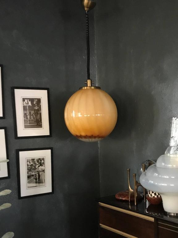 Hand-Crafted Large Mid-Century Modern Murano Globe Light, circa 1960 For Sale