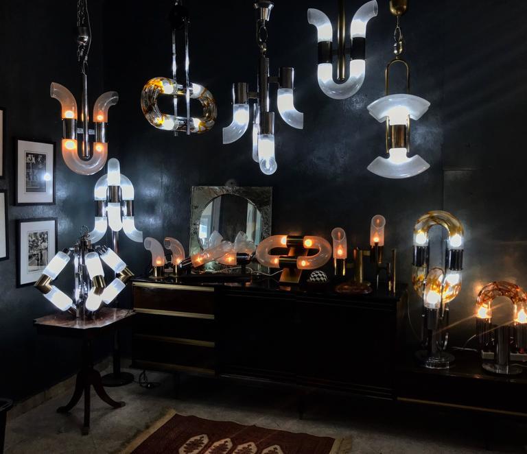 Italian Mid-Century Modern Table Lamp by Aldo Nason for Mazzega For Sale