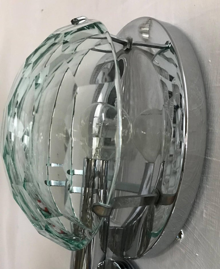 Mid-20th Century Multifaceted Three-Light Flush Mount by Pia Guidetti Crippa for Lumi, circa 1960 For Sale