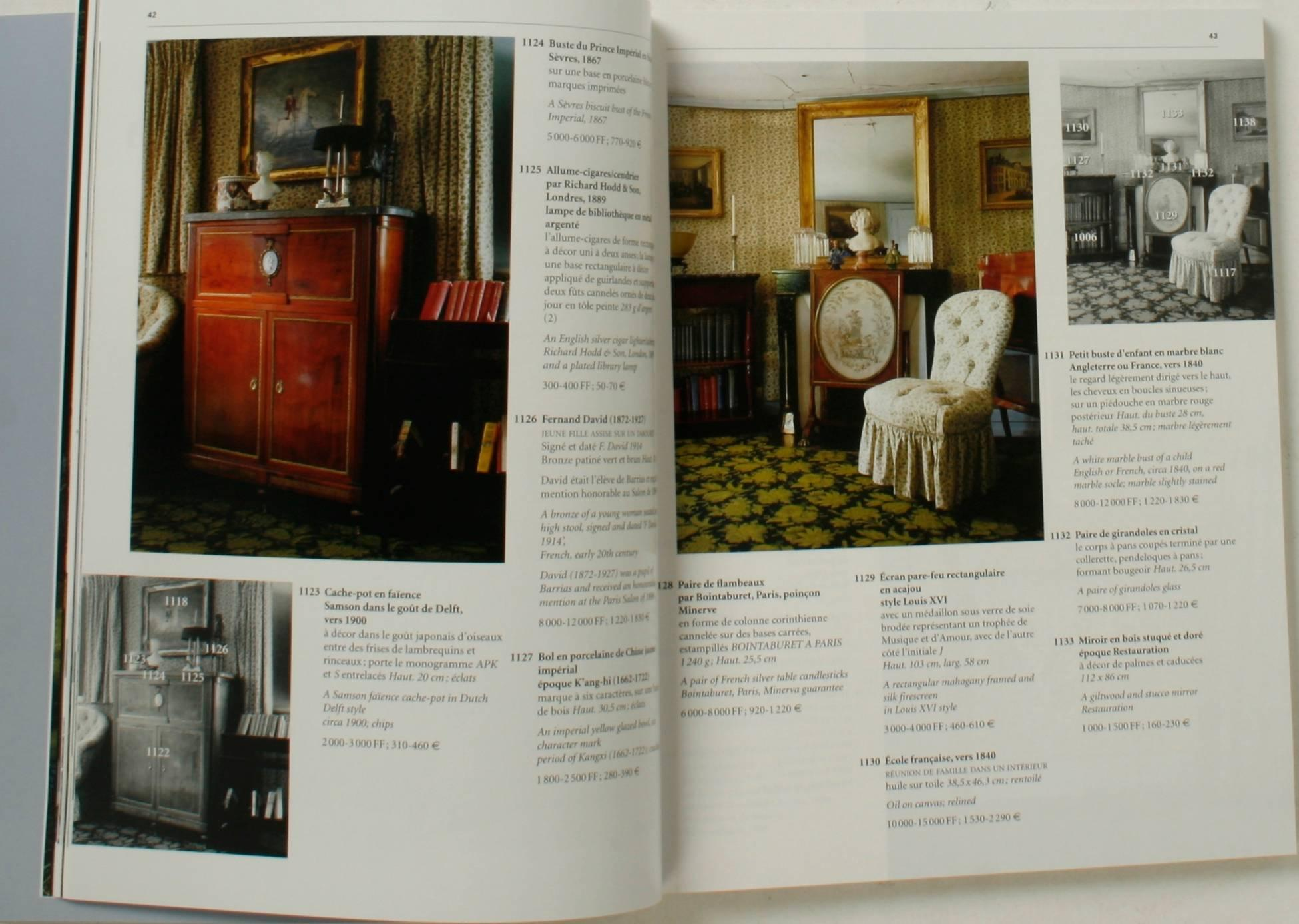 sothebys catalogues from chteau de groussay auction four volumes at 1stdibs