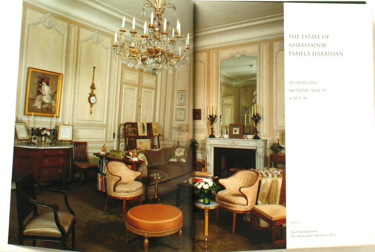 American Auction Catalogue from The Estate of Ambassador Pamela Harriman For Sale