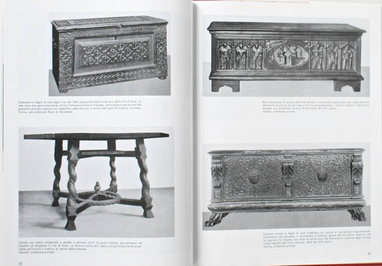 Il Mobile Piemontese (Piedmontese Furniture.) Milan: Görlich Editore, 1997. First edition hardcover with dust jacket. 204 pp. Italian text. A beautiful book on the history of carved Piedmont furniture and design with 16 full page color plates and