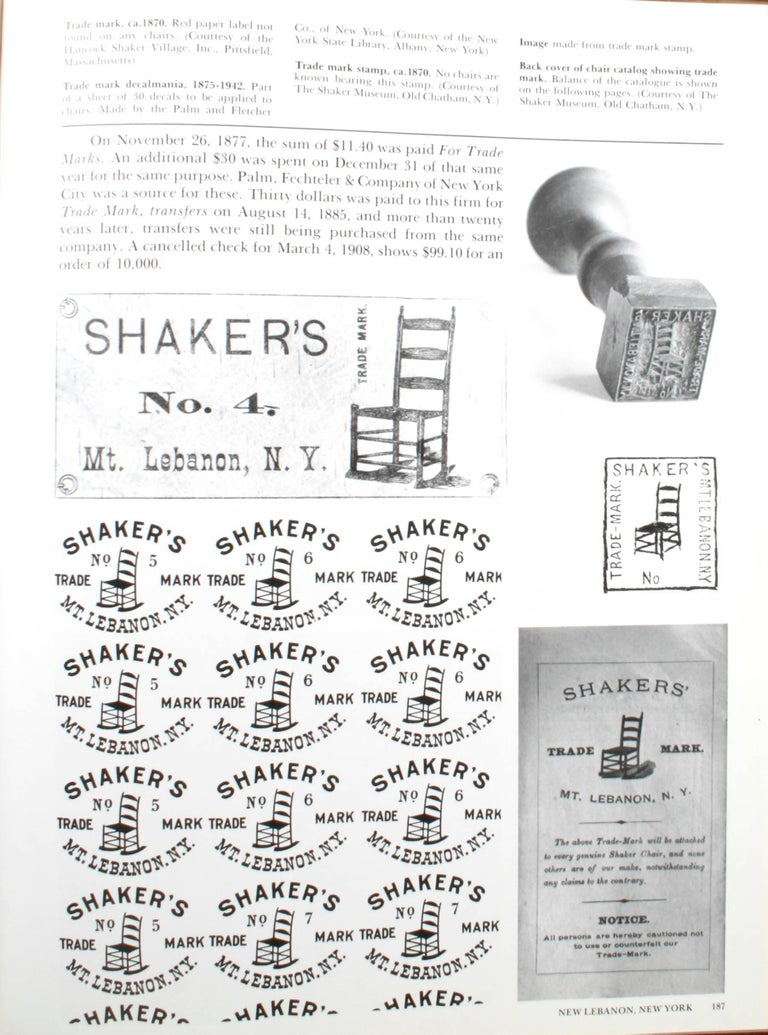 The Shaker Chair, First Edition For Sale 1