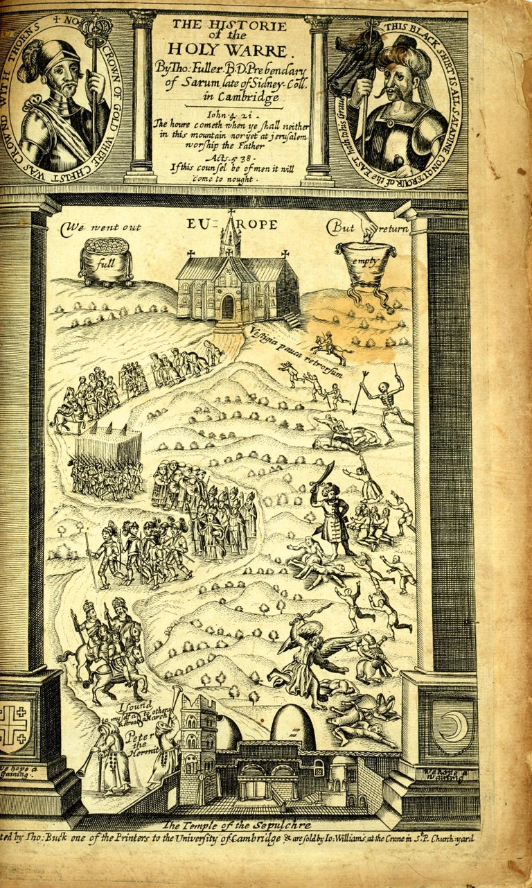 18th Century and Earlier Historie of the Holy Warre by Thomas Fuller, Second Edition, circa 1640 For Sale