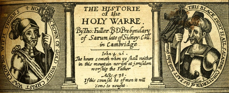 Paper Historie of the Holy Warre by Thomas Fuller, Second Edition, circa 1640 For Sale