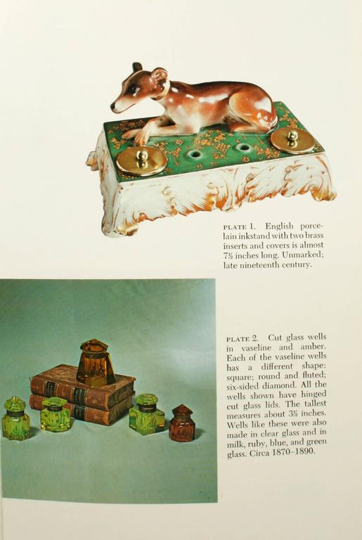 Inkstands and Inkwells, A Collector's Guide by Betty and Ted Rivera. NY, Crown Publishers, Inc., 1973. First edition hardcover with dust jacket. 216 pp. A comprehensive guide to writing paraphernalia from the 17th-20th century including inkstands,