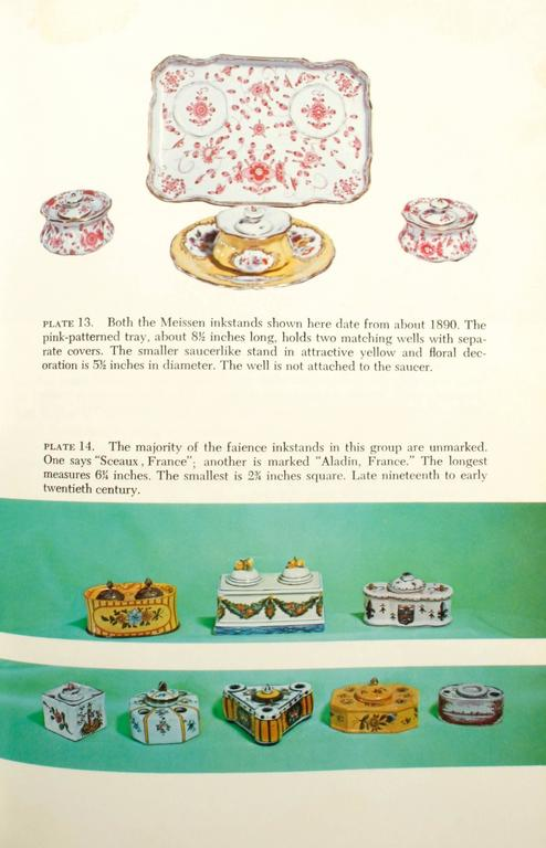 Paper Inkstands and Inkwells, A Collector's Guide, First Edition For Sale