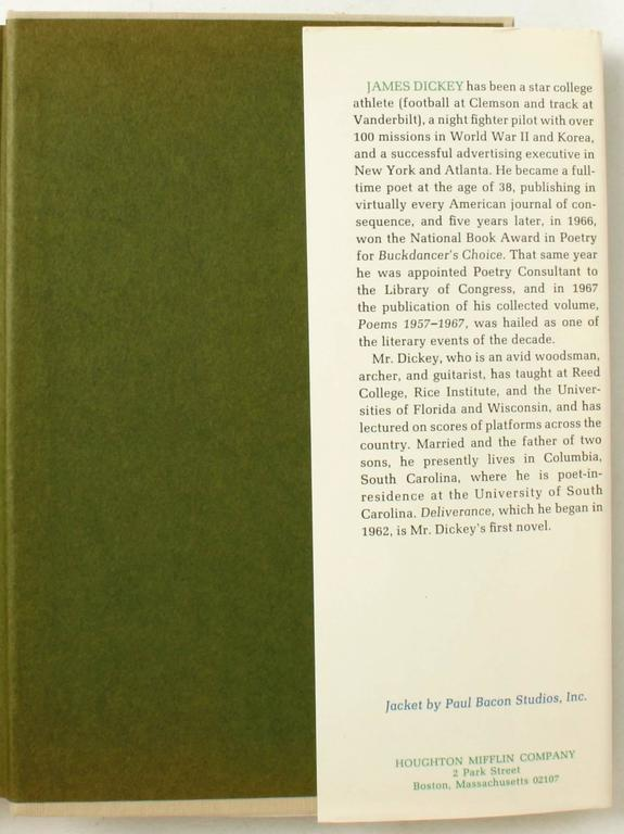 Paper Deliverance by James Dickey, First Edition For Sale