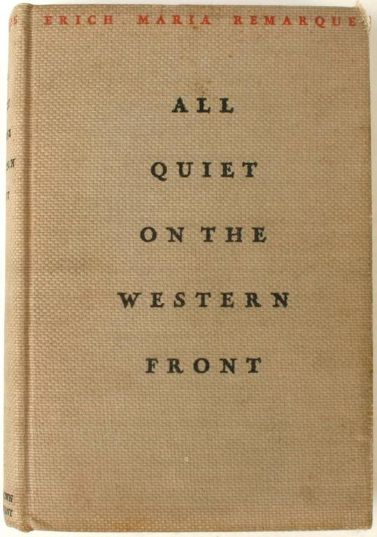 an analysis of all quiet on the western front by erich maria remarque Erich maria remarque's novel follows paul bremer all quiet on the western front was one of the key books of its generation.