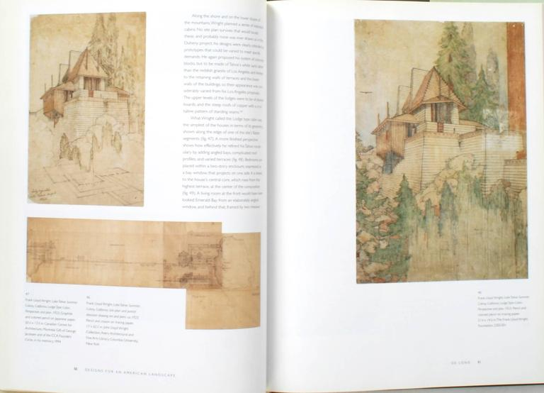 Paper Frank Lloyd Wright, Designs for an American Landscape, 1922-1932, 1st Edition For Sale