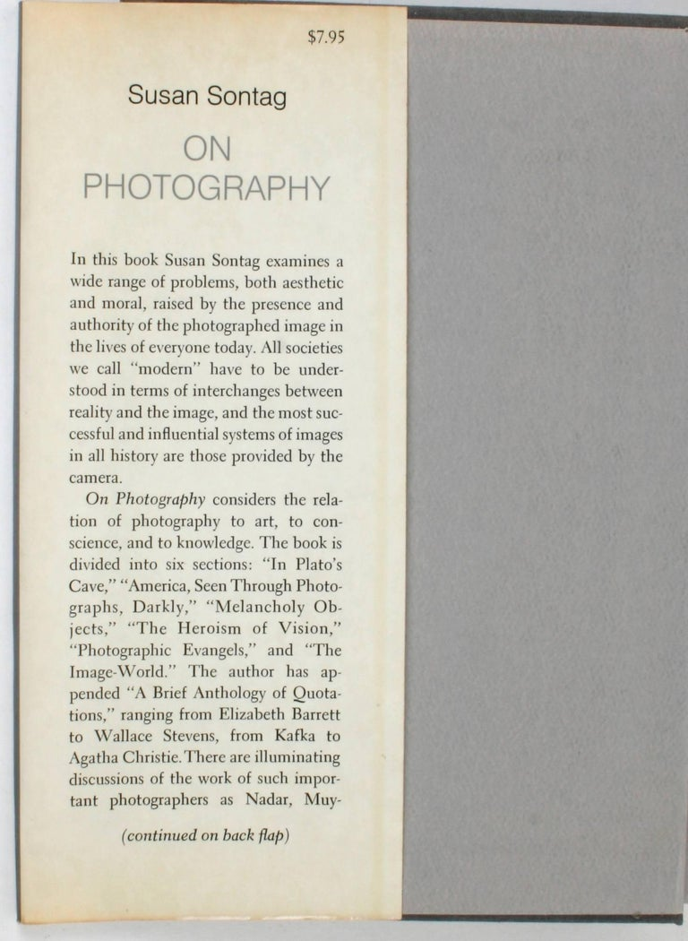 American On Photography by Susan Sontag, First Edition For Sale