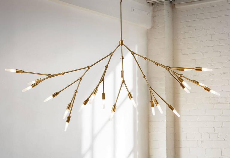 Branch Made-to-order Brass Chandelier 2 & Branch Made-to-order Brass Chandelier For Sale at 1stdibs azcodes.com