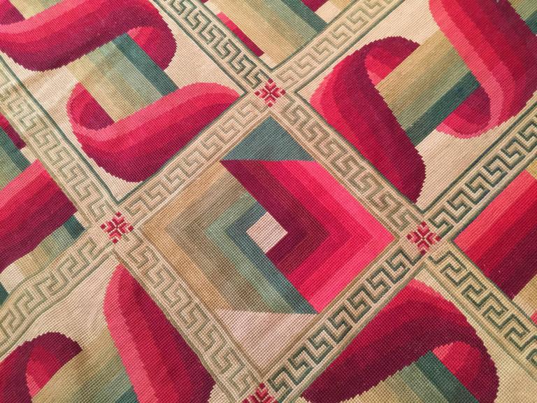 Avant-Garde 19th Century French Needlepoint Carpet For Sale 1
