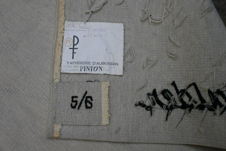 "Tapestry by Alexander Calder ""Ice Rink"" 3"