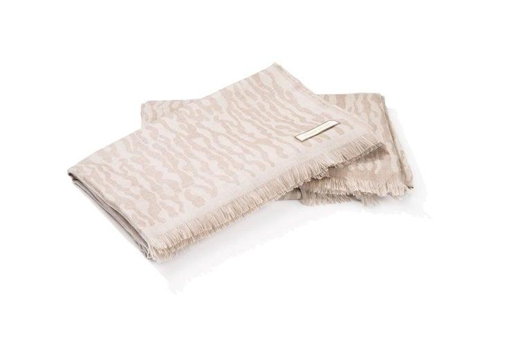 British Camouflage Throw, 70% Cashmere, 30% Silk For Sale