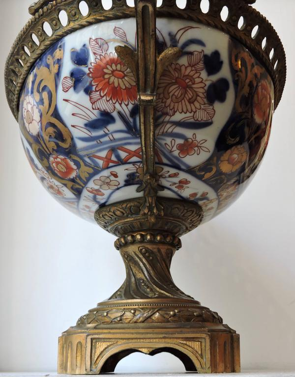 Late 19th Century 19th Century Louis XVI Style Ormolu-Mounted Bayeux Porcelain Centrepiece For Sale