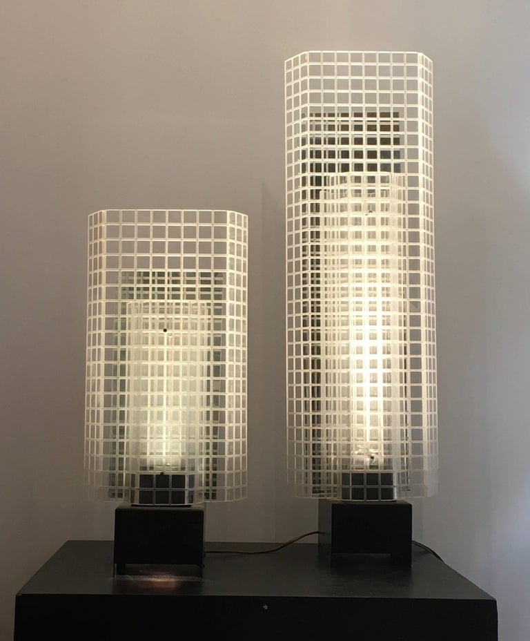 Set Of Three 1980s Design Skyscrapers Table Lamps At 1stdibs