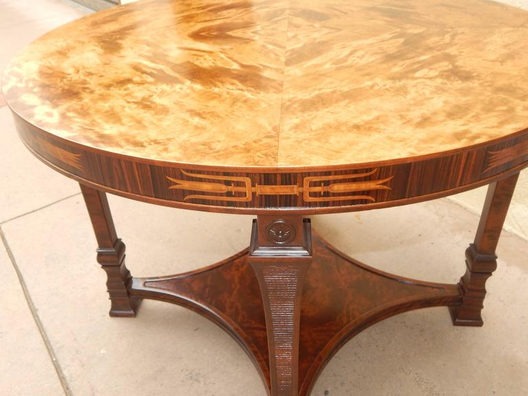 Early 20th Century Swedish Art Deco Inlaid Table-Carl Malmsten for Smf, circa 1920 For Sale