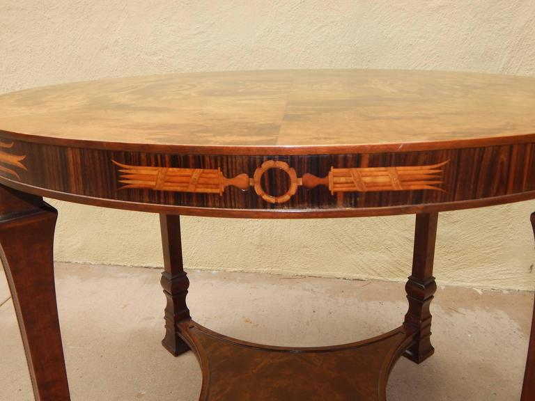 Swedish Art Deco Inlaid Table-Carl Malmsten for Smf, circa 1920 For Sale 1