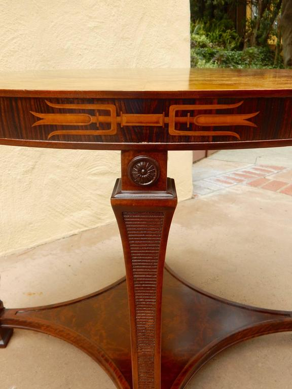 Swedish Art Deco Inlaid Table-Carl Malmsten for Smf, circa 1920 For Sale 2