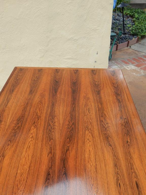 Extendable Danish Mid-Century Modern Rosewood Dining Table, circa 1960 For Sale 2